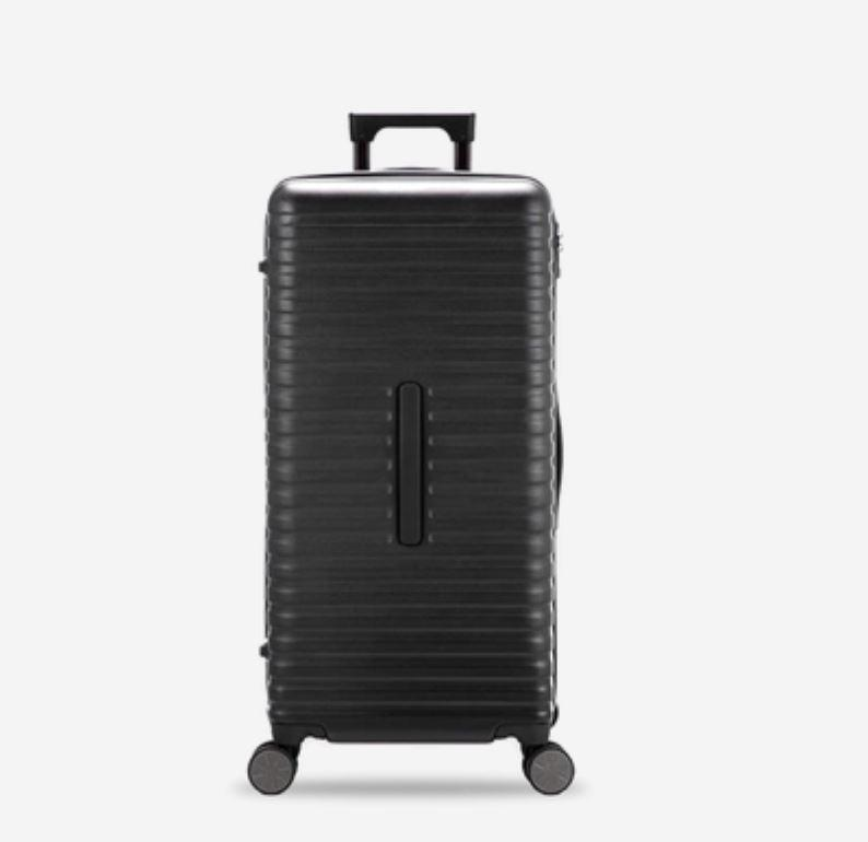 28-Inch 100% PC Luggage with 100L Capacity, TSA Lock and Spinner(外部仓) Sports & Travel LIFEASE Black
