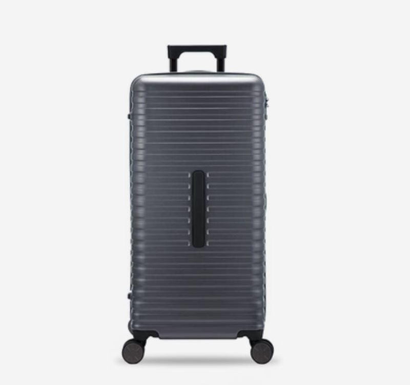 28-Inch 100% PC Luggage with 100L Capacity, TSA Lock and Spinner(外部仓) Sports & Travel LIFEASE Gray