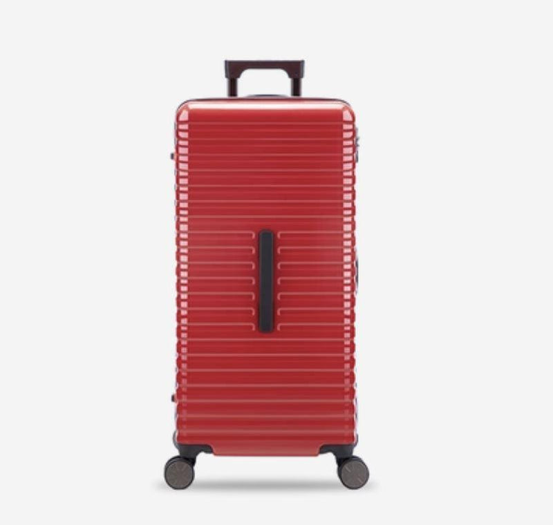 28-Inch 100% PC Luggage with 100L Capacity, TSA Lock and Spinner(外部仓) Sports & Travel LIFEASE Red