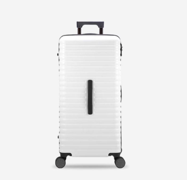 28-Inch 100% PC Luggage with 100L Capacity, TSA Lock and Spinner(外部仓) Sports & Travel LIFEASE White