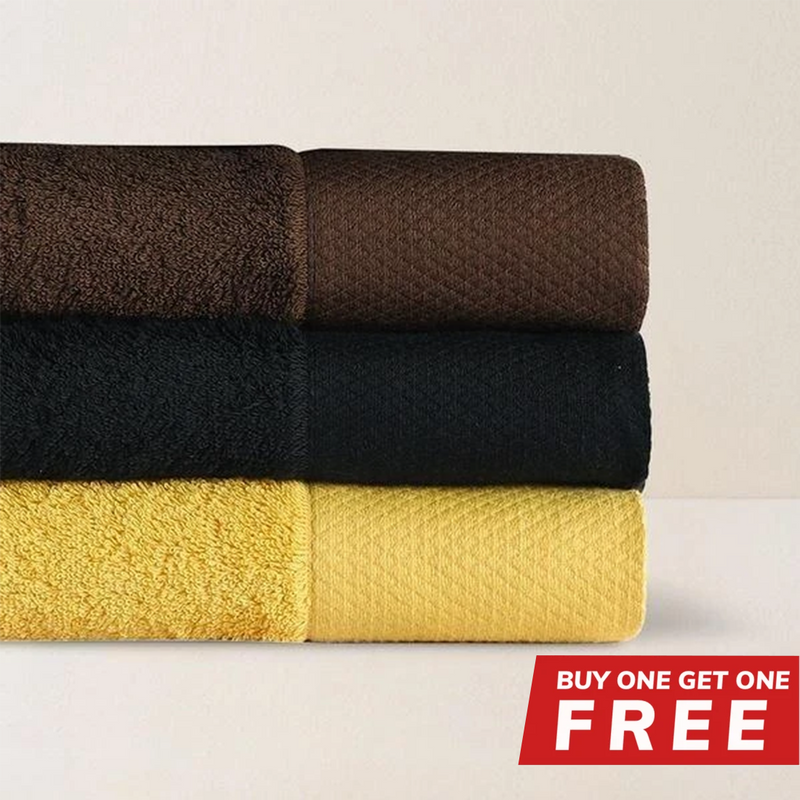 "Buy 1 Get 1 Free - Buy 1  Egyptian Long-Staple 100% Cotton Bath Towel 30.5"" x 59"" Get 1 Free"