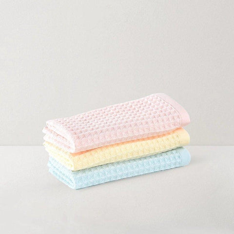 3 Packs, Double-Layer Cotton and Waffle Weave Gauze Towel Baby Care LIFEASE