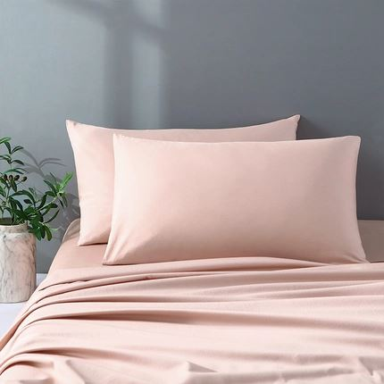 300 Count Washed Cotton Satin Pillowcases Set of 2 Home & kitchen LIFEASE