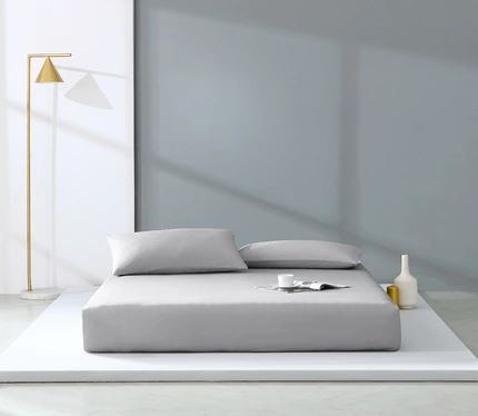 300 Count Washed Cotton Satin Pillowcases Set of 2 Home & kitchen LIFEASE Grey 18.8''x29.1''