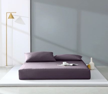 300 Count Washed Cotton Satin Pillowcases Set of 2 Home & kitchen LIFEASE Purple 18.8''x29.1''