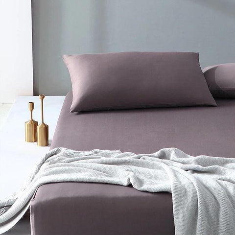 300-Thread-Count 100% Cotton Washed Cotton Satin Bedding Cover Set - Full/Queen/King Size Home & kitchen LIFEASE
