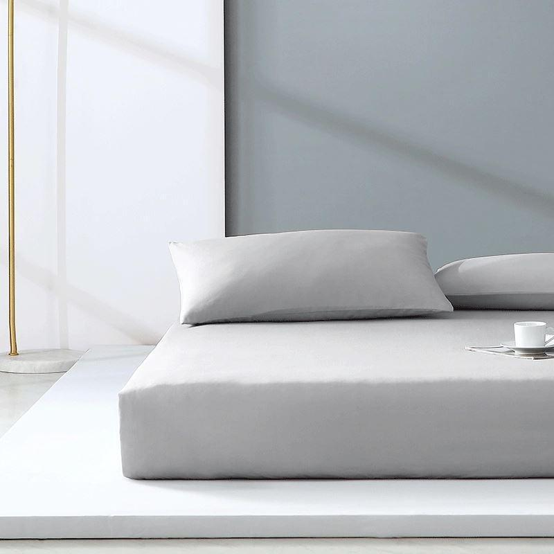 "300-Thread-Count 100% Cotton Washed Cotton Satin Bedding Cover Set - Full/Queen/King Size Home & kitchen LIFEASE Grey King (71""x79"")"