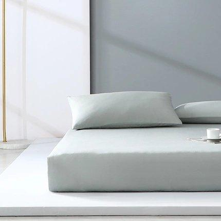 "300-Thread-Count 100% Cotton Washed Cotton Satin Bedding Cover Set - Full/Queen/King Size Home & kitchen LIFEASE Light Grey Queen (59""x78.7"")"