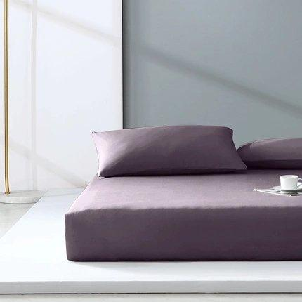 "300-Thread-Count 100% Cotton Washed Cotton Satin Bedding Cover Set - Full/Queen/King Size Home & kitchen LIFEASE Purple King (71""x79"")"