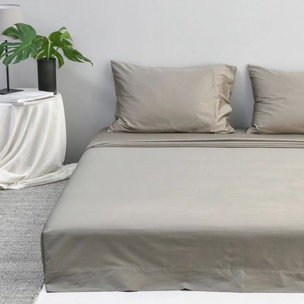 300 Thread-Count Washed Cotton Satin Bed Sheet Home & kitchen LIFEASE