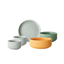 Morandi Color Ribbed Dinnerware Set