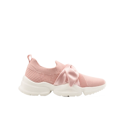 Women's Breathable Sneakers with Bow-Tie
