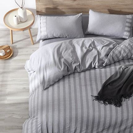 4-Piece Washed Cotton Bedding Set Home & kitchen LIFEASE