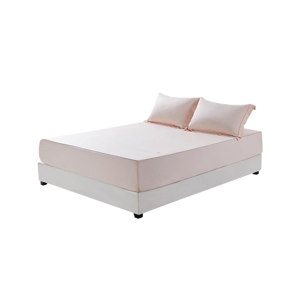 Three-Piece Bedding Set with Bamboo Fabric, both Breathable and Cooling