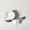Gray and White Series Dinnerware Set of 9
