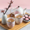 [Made in Japan] Mino Ceramics  Sakura Tea Set