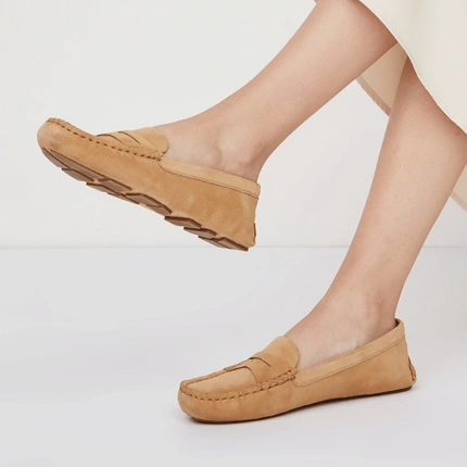 Women's Suede Loafers with Soft Soles