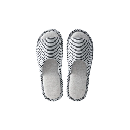 【Minimum 3-Pair Per Order】Refreshing Striped Linen Open Toe Slippers - Step into Comfort