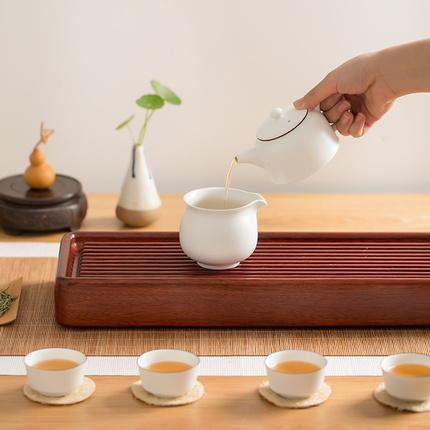 6 piece Opaque White Jade Tea Set Home & kitchen LIFEASE