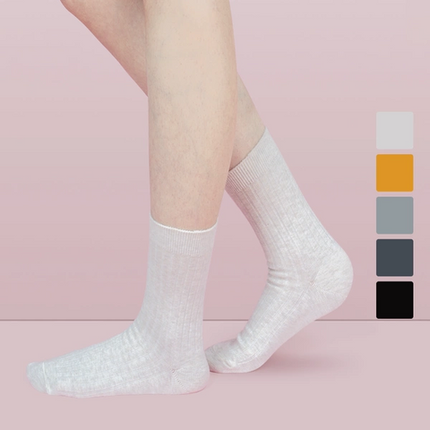 Women's Fine Stiched Ribbed Socks - 3/5 Pairs