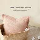 [Minimum 2 Per Order] 100% Cotton Decorative Pillow with Waffle-Texture