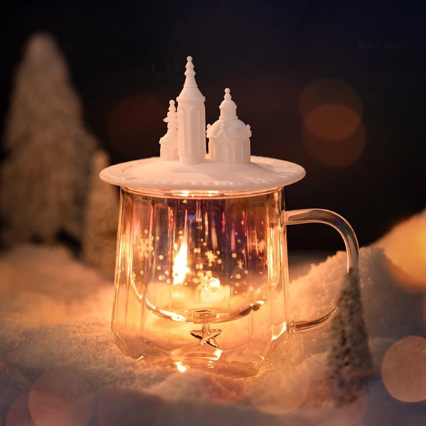 【Use code:MEMORIAL28, Buy 2 Get 20% off】Castle Shape Double-layer Glass Cup