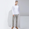 Men's Knitted Fabric Botton Down Shirt
