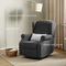 Pushback Recliner Chair with Swivel Base, Manual Mechanism Rocking Chair with Trim