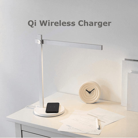 【Use code: BOGOLAMP, Buy 2 for $69】Eye-Caring Desk Lamp with Touch Control and Wireless Charger for Qi-Enabled, 3 Brightness Levels