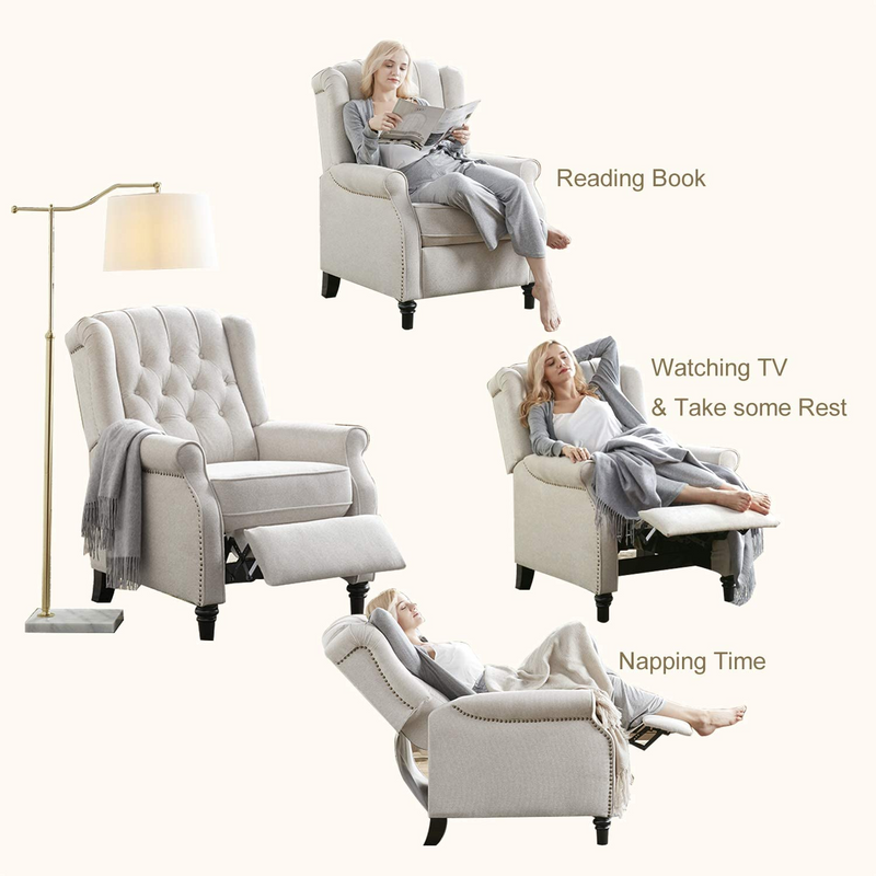 Push Back Recliner Chair - Multiple Colors