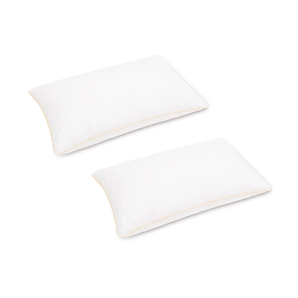 "100% Cotton Cover with Ultra-Soft Feather Fabric Pillow 18"" x 29"" in White - Plush"