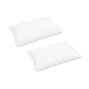 "Ultra-Soft Feather Fabric Pillow 18"" x 29"" in White - Plush"