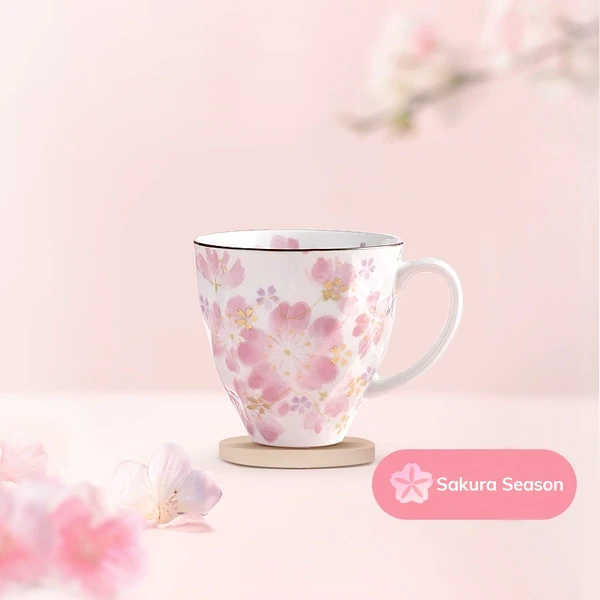 [Made in Japan] Mino Ceramics Sakura Pattern Cups