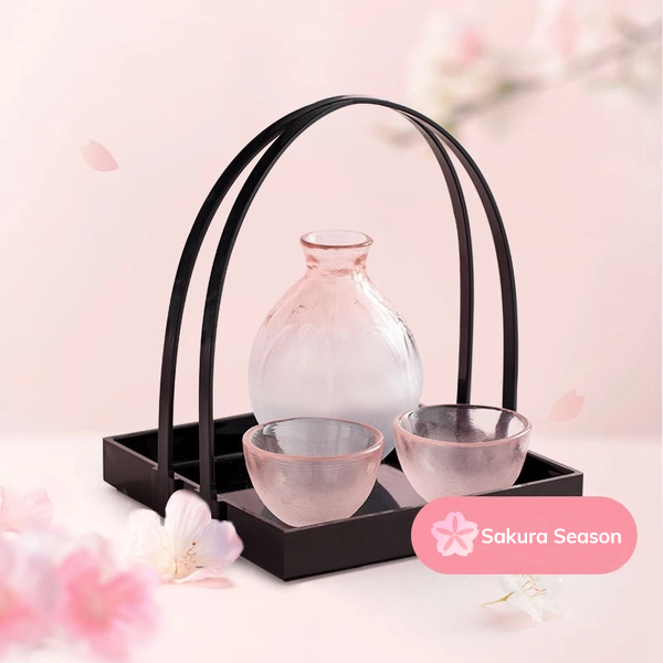 [Made in Japan] Sakura Handmade Glass Wine Decanter And Goblets