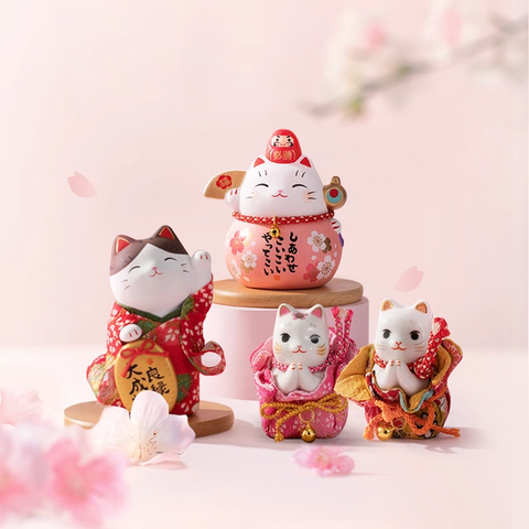 Japanese Design Sakura Theme Lucky Cat