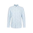 Men's Embroidered Oxford Sleeve Shirt
