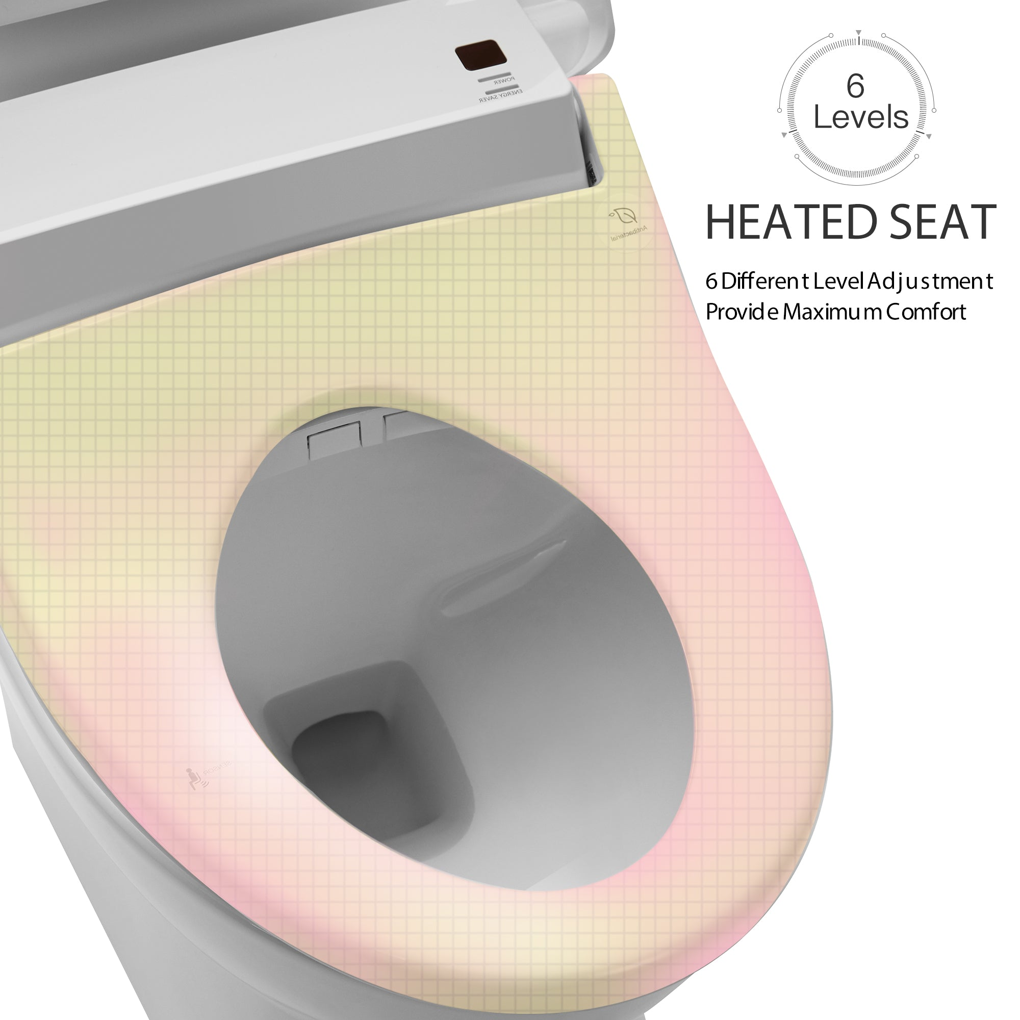 Bidet Toilet Seat with Self Cleaning Stainless Nozzle [5-7 Days U.S. Shipping]