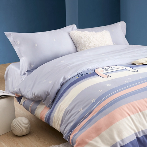 Snow Monster Series 100% Long-staple Cotton Print 4-Piece Bedding Set - Large Twin/Full; Full/Queen