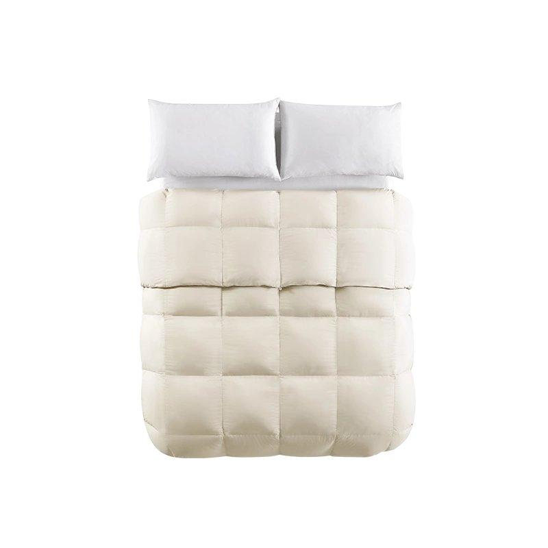 "95% White Goose Down Filling Comforter Home & kitchen LIFEASE Regular (2.54 lb) Queen (Fit comforter: 78.7""x91"")"