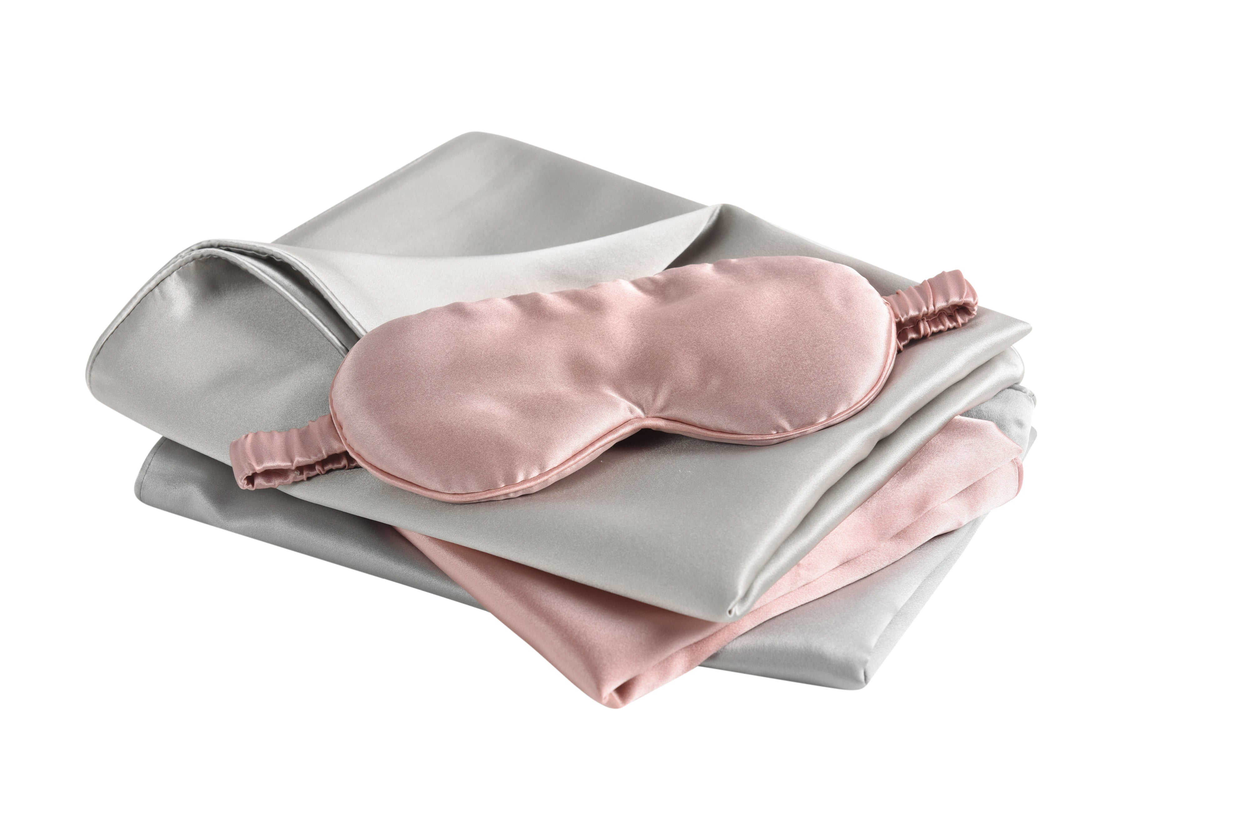 Mulberry Silk Pillowcase + Sleeping Mask Bundle (Use code: PILLOWCASE10, up to $18.89)