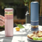 Stainless Steel Insulated Tea Infuser Thermos Bottle - Pink/Blue/Black