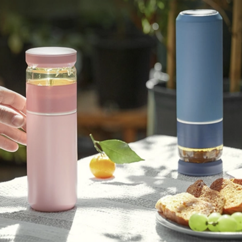 【Use code:MEMORIAL28, Buy 2 Get 20% off】Stainless Steel Insulated Tea Infuser Thermos Bottle - Pink/Blue/Black