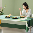 Imitated Linen Printed Tablecloth