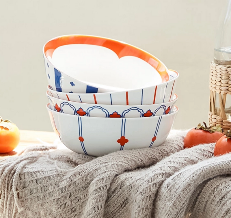 Mid-autumn Limited Edition Stripes Pattern Tableware Set