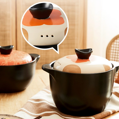Ceramic Enamel Stew & Soup Pot - (2.2L, 3.5L)