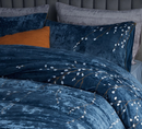 100% Cotton 4-piece Velvet Luxury Embroidery Bedding Sets Large - Twin/Full; Full/Queen