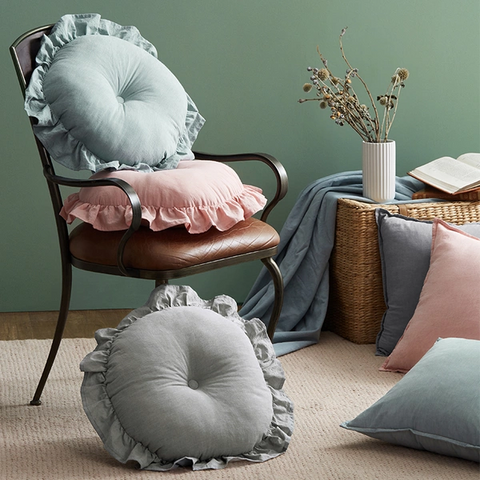 Vinatage Denim-Cotton Pillow, Decorating the Home with a Relaxed Sensation of a Breeze