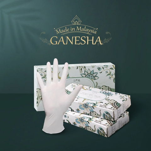 [Made in Malaysia] Disposable Latex General Gloves 100 PCs