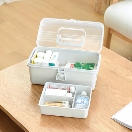 Family First Aid Box Medicine Box Organizer