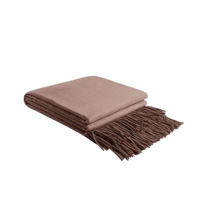 Australian Wool Double-Sided Patterned Blanket Home & kitchen LIFEASE Dark Red